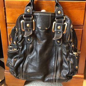 Large leather purse